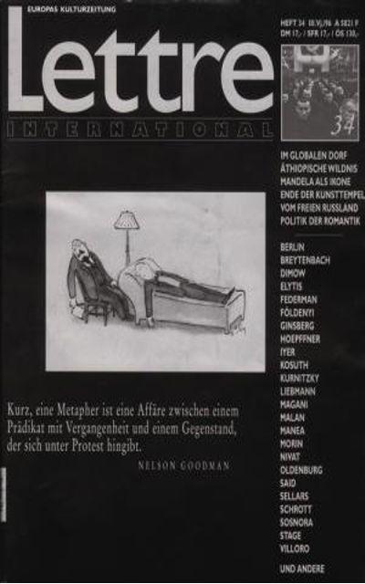 Василий Димов, Vassilij Dimov, Von hündischem Charme, Letter International